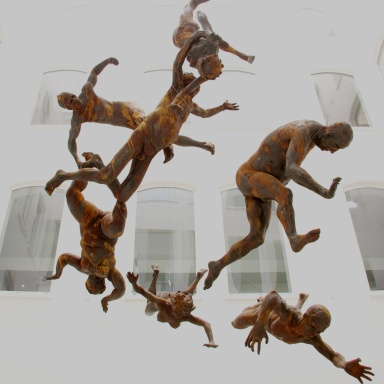 Naked humanity drifting in space - no identity, no direction - but expectant of discovering both through faith ....