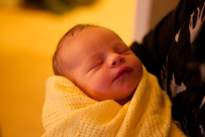 Edward at one day old